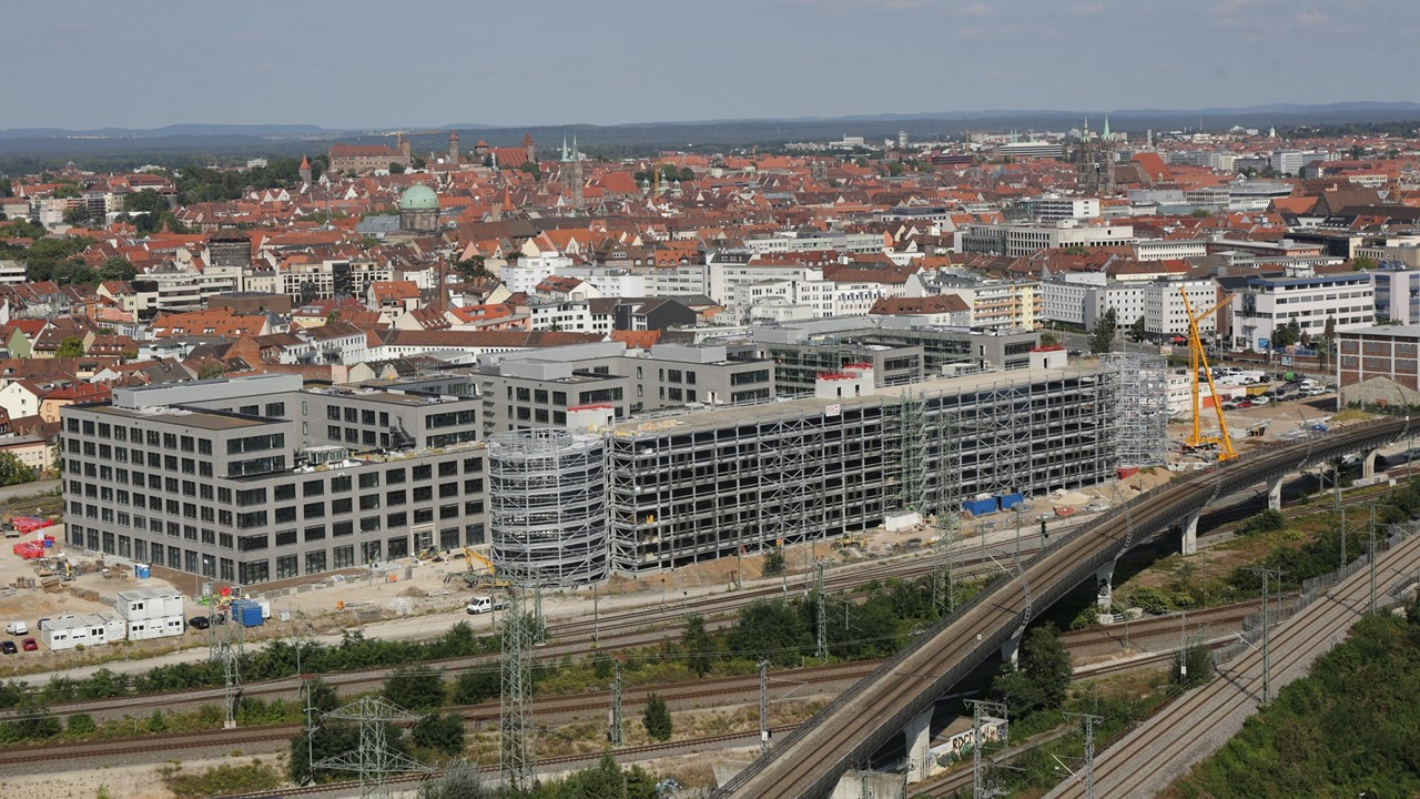 GfK Orange Campus Nürnberg Luftbild